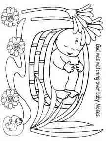 baby moses coloring page free coloring pages of moses miriam