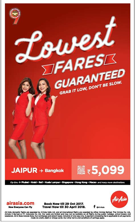 airasia low fare air asia lowest fares guaranteed grab it low dont be slow