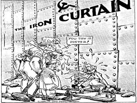 an iron curtain iron curtain political cartoon explanation www