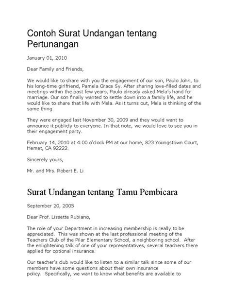 contoh surat undangan tentang pertunangan language jakarta