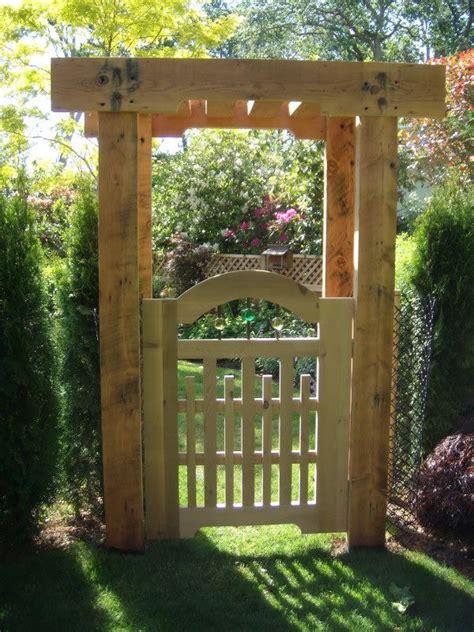 garden gate garden arbor with gate landscaping
