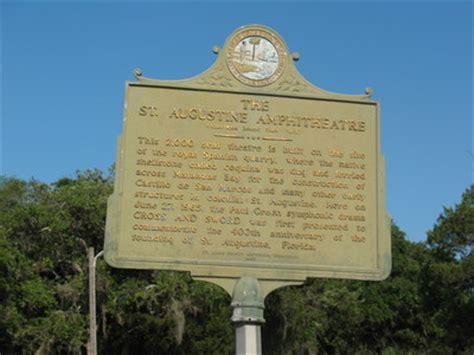 """""""the st. augustine amphitheater marker, st. augustine, fl"""