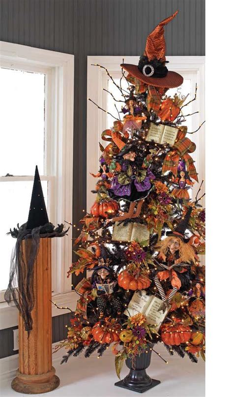 Halloween And Christmas Decorations Raz 2011 Black And Bling Halloween Trees Trendy Tree Blog