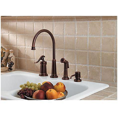 pfister gt26 4ypk ashfield 4 hole kitchen faucet with rustic bronze ashfield 1 handle kitchen faucet gt26 4ypu