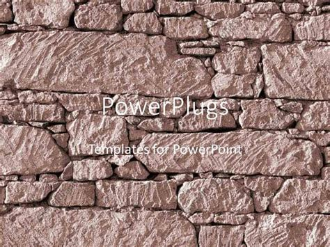 rock powerpoint themes powerpoint template a strong rock wall being built by a