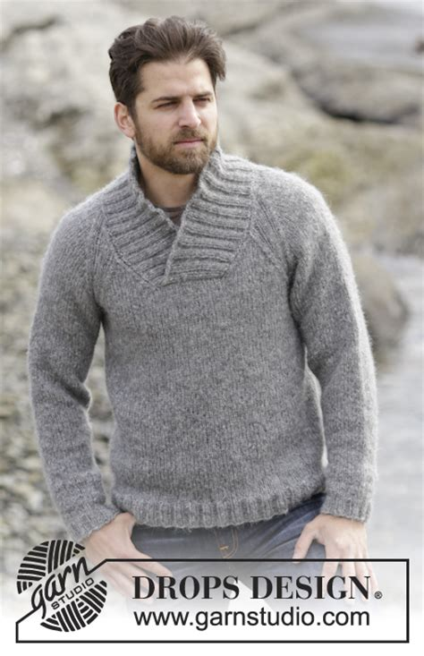 free knitting pattern raglan jumper aberdeen knitted drops men s jumper with raglan and