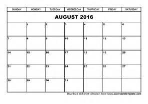 2016 calendar august 2016 calendar august 2016 calendar printable