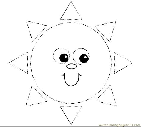 circle coloring pages preschool small triangles circle face coloring page free shapes