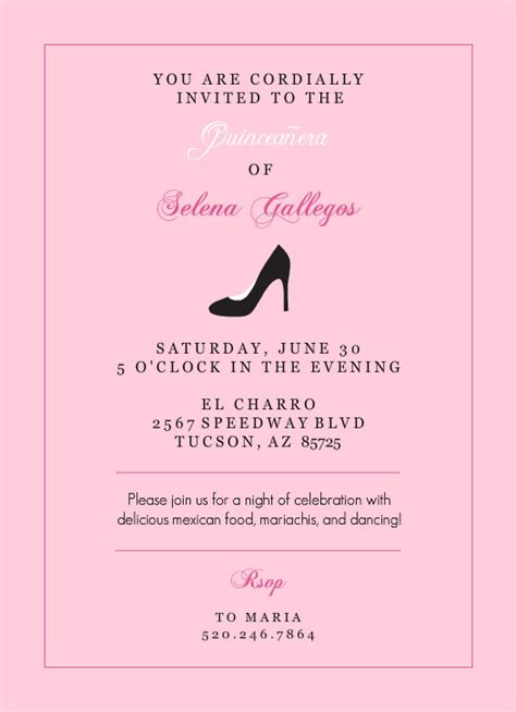 quince invitation templates invitation template