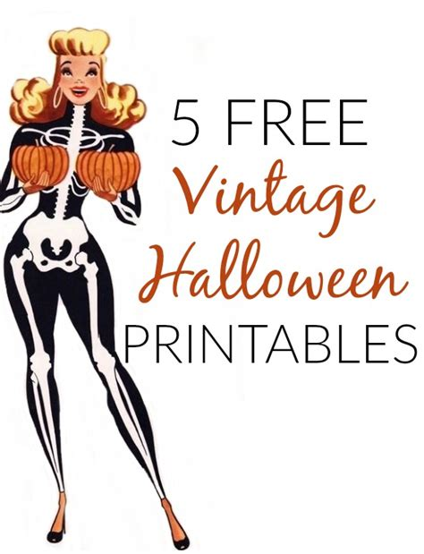 printable halloween decorations pdf 5 free vintage halloween printable decorations va voom