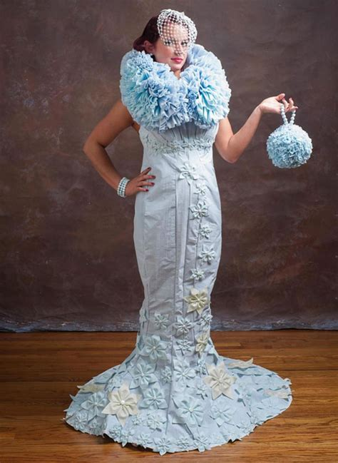 How To Make Toilet Paper Dress - toilet paper wedding dress competition gorgeous wedding