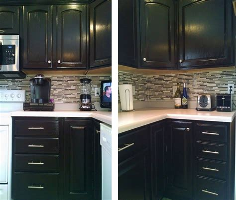 java stain kitchen cabinets kitchen makeover in java gel stain general finishes