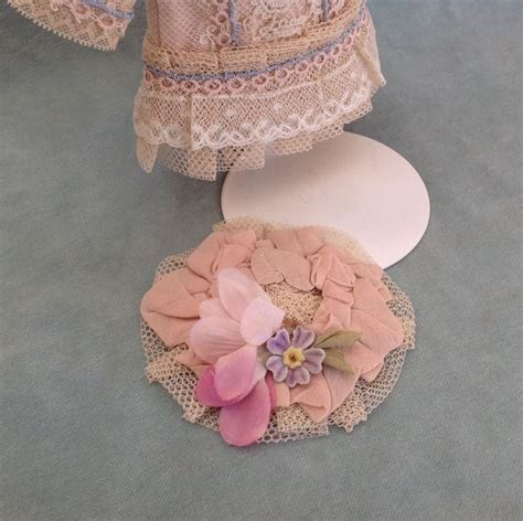 all bisque dolls ebay antique tulle lace dress hat mignonette all bisque doll