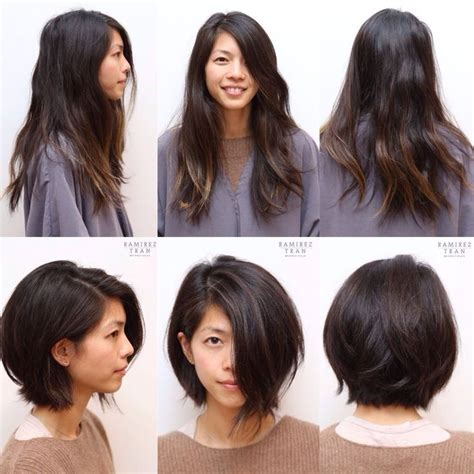 before and after long to short hair long to short hair before and after makeover long hairstyles