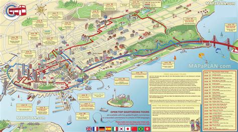 san francisco map tourist attractions san francisco map big things to do with family