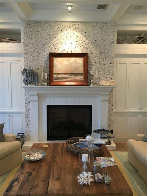 hollows fireplace  tabby stucco house inspiration