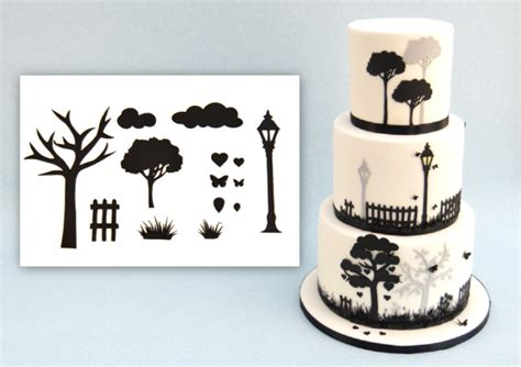 Cake Patchwork Cutters - design a cake patchwork cutters countryside silhouette set
