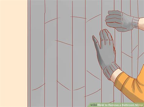 how to remove mirror from bathroom wall how to remove a bathroom mirror 9 steps with pictures
