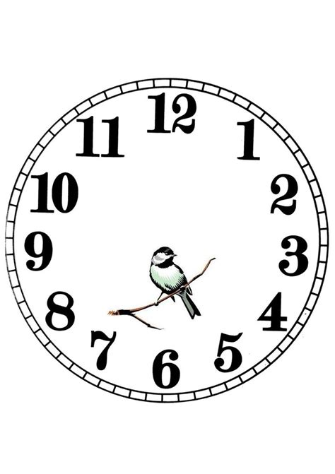 651 best images about clock face templates on pinterest