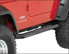 rugged ridge side step bars for 87 95 jeep wrangler yj