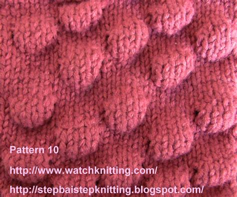 Embossed Knitting Stitches Knitting