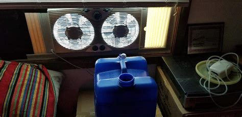 holmes twin window fan with comfort control thermostat growdiaries 2018 led closet grow scout cookie week 1