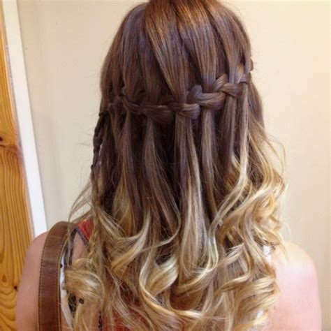 hairstyles how to do a waterfall waterfall braid hair styles