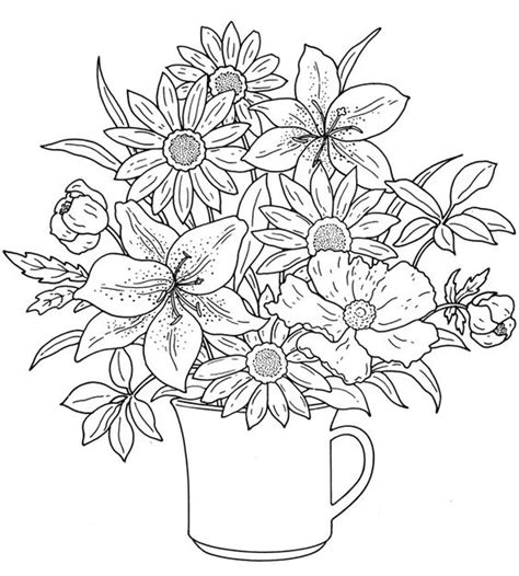 Pretty Coloring Pages Of Flowers