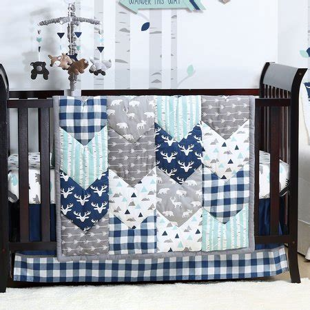 woodland nursery bedding set woodland trail 6 baby boy crib bedding set mountain moose nursery bedding by the peanut