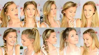 school hairstyles for for 14year 10 easy back to school hairstyles youtube