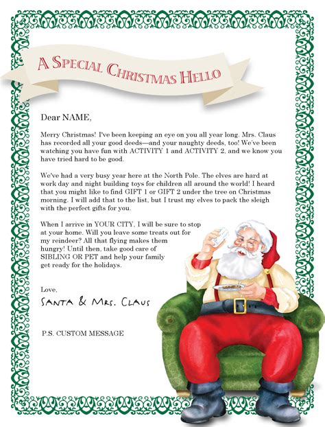 free letter from santa template letter from santa templates free try it free login