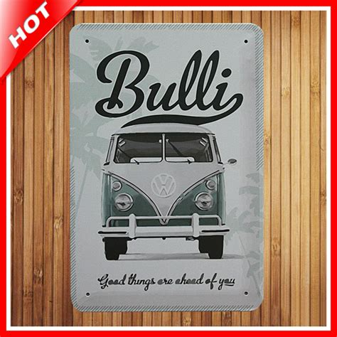 new retro vw car chic home bar vintage metal signs home