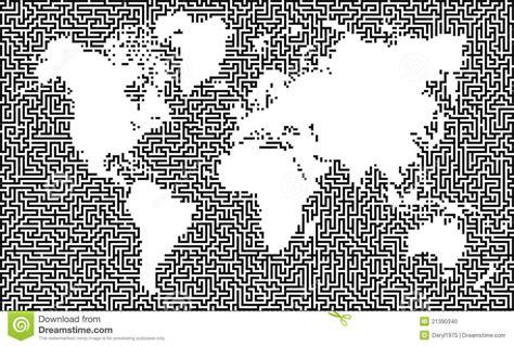 printable geography maze earth maze map stock photo image 21390340