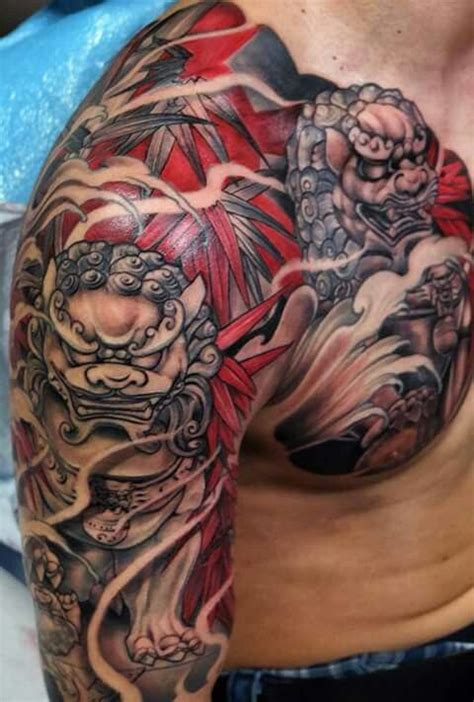 komainu tattoo design 17 best images about fu on naples half