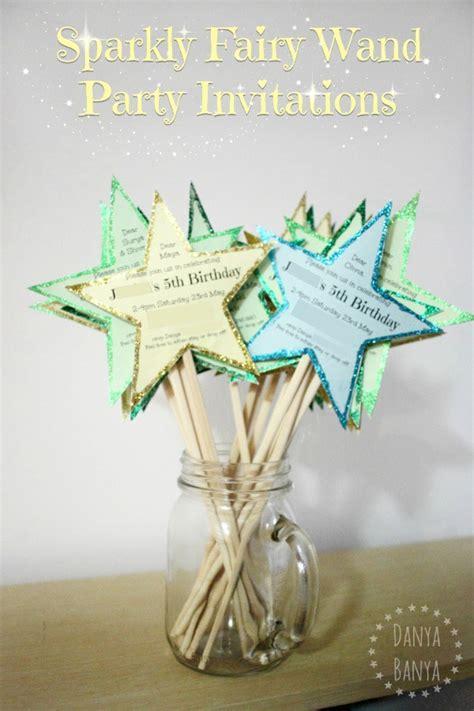 diy birthday invitation ideas diy sparkly wand invitations danya banya