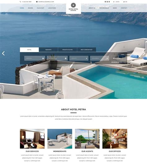 10 Best Hotel Website Templates For Hotel And Travel Booking Sites Resort Website Template
