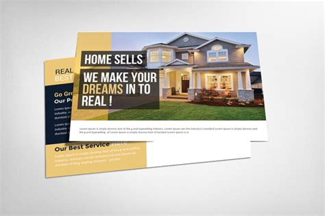 real estate postcard templates real estate postcard card templates on creative market