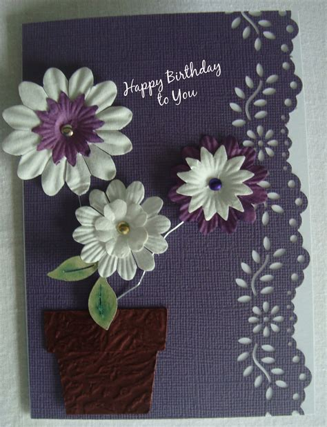 Craft Paper And Card - card ideas paper flowers card and scrapbooking