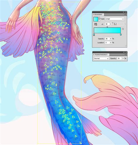 watercolor dress tutorial how to create a watercolor mermaid illustration in adobe