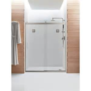 home depot shower sliding doors kohler levity 59 5 8 in x 74 in frameless sliding shower