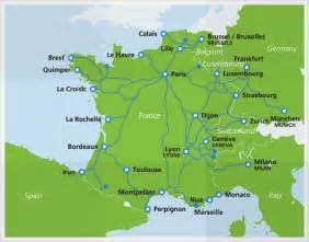 Tgv Route Map by Tgv High Speed Train Eurail Com
