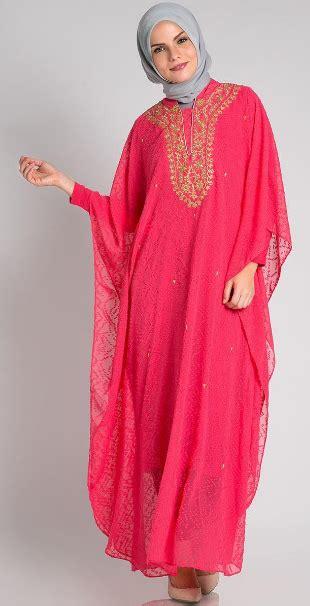 Dress Kaftan Terbaru contoh dress muslim pesta model terbaru