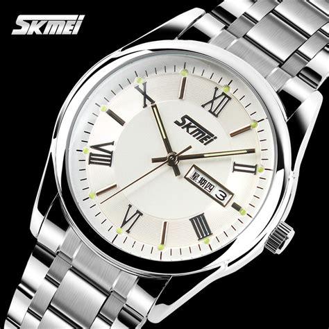 Jam Analog Skmei skmei jam tangan analog pria 9056c silver jakartanotebook