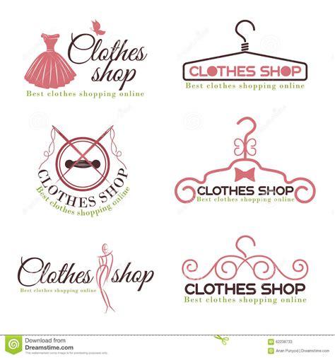 design logo shop clothes shop fashion logo vector set design stock vector