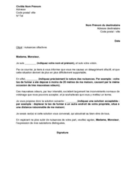 Exemple De Lettre Reclamation Exemple Gratuit De Lettre R 233 Clamation Mauvaises Odeurs Fait Voisin Et Proposition Solution Amiable