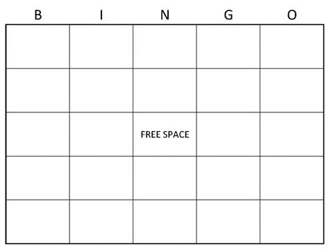 free blank bingo card template for teachers blank bingo cards blank bingo card template