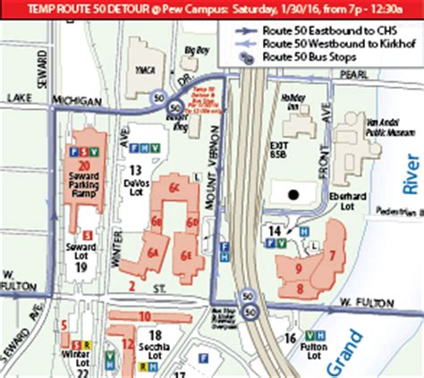 gvsu map alerts gvsu transportation services grand valley state