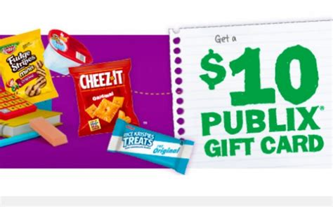 Where To Buy Publix Gift Cards - stock up on back to school snacks and get a free 10 publix gift card orlando sentinel