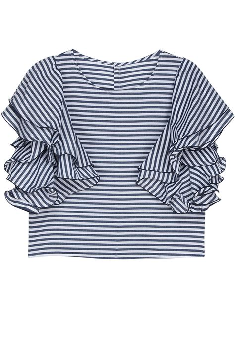 Blouse Yosio muller of yoshiokubo striped flare sleeve top multicolor