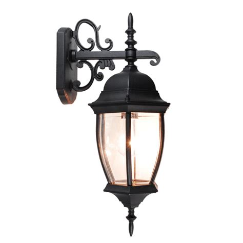 Exterior Wall Sconce Light Fixtures Outdoor Exterior Lantern Wall Light Lighting Fixture Black Yard Garden Sconce Us Ebay